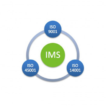 iso changes, graphic displaying iso standards revolving around integrated management system icon